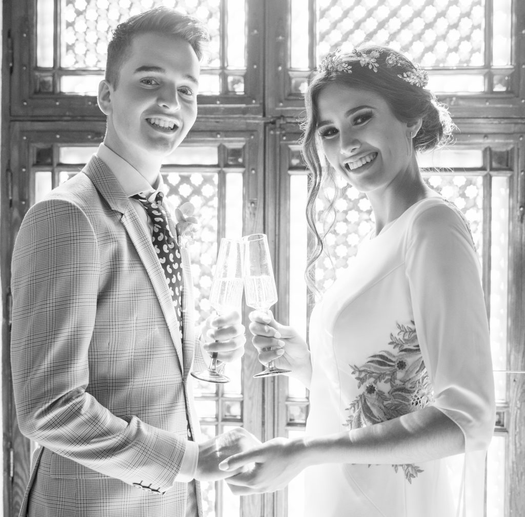 Bride-Groom-Champagne