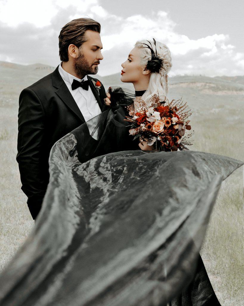Bride-Groom-Black-Wedding-Dress